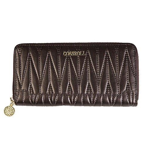 Penao Lady Fashion Reißverschluss Leder Brieftasche 19cmx9.5cmx3.5cm Brown q7JwM