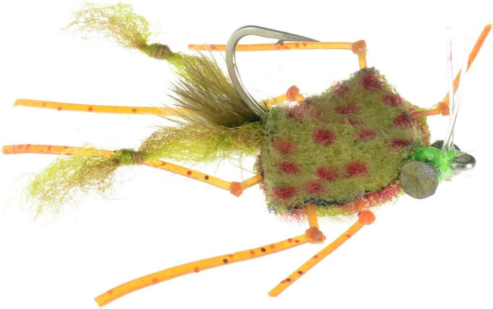 Redfish, Permit, Bonefish Fly Fishing Flies Palometa Crab Olive 6 flies
