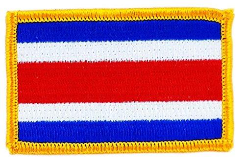 Rucksackaufnäher, Motiv: Flagge von Costa Rica, zum Aufbügeln