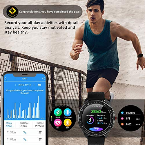"""DoSmarter Fitness Watch, 1.3"""" Touchscreen Smart Watch with Heart Rate Blood Pressure Monitor,Waterproof Fitness Tracker with Sleep Tracking, Pedometer, Calories Counter for Women Men 6"""