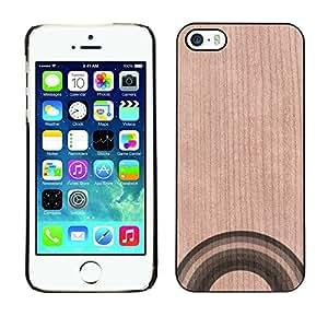 GIFT CHOICE / Teléfono Estuche Caso de madera de cerezo natural Duro Cáscara Funda Cubierta / Natural Cherry Wood Case for Apple iPhone 5 / 5S // Gay Lgbt Rights Rainbow Pretty //