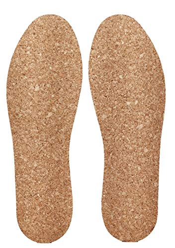 Plain walker Natural Cork 3D Molding Comfort Orthotic for Flat Feet Pronation Active Thick Insoles with Foot Cushion Pad (US(M) 6~10.5)