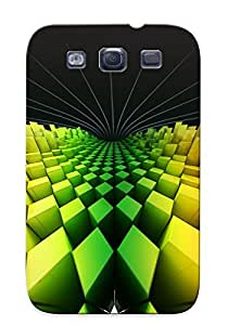 Fashion Tpu Case For Galaxy S3- Rainbow Rhombuses Defender Case Cover For Lovers