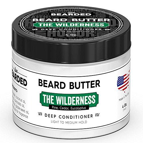 Pine, Cedar, Eucalyptus Beard Butter | Live Bearded Made in USA | The Wilderness All Natural Beard Butter