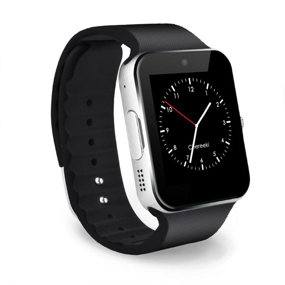 CHEREEKI Bluetooth Smart Watch Reloj Inteligente Teléfono Inteligente Pulsera con Cámara Pantalla
