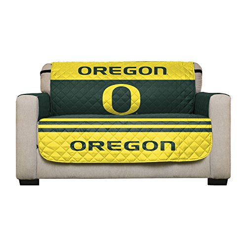 Reversible Couch Cover - College Team Sofa Slipcover Set / Furniture Protector - NCAA Officially Licensed (Love Seat, University of Oregon Ducks) -