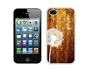 Apple Iphone 4s Case Durable Soft Silicone TPU Dandelion Funny Slim White Cell Phone Case Cover for Iphone 4