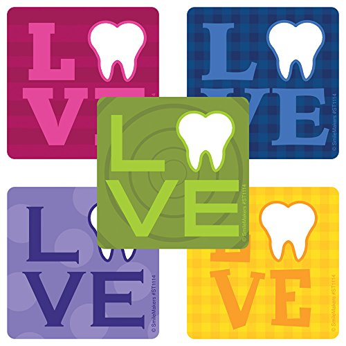 Dental Love Stickers - Prizes and Giveaways - 100 Per Pack