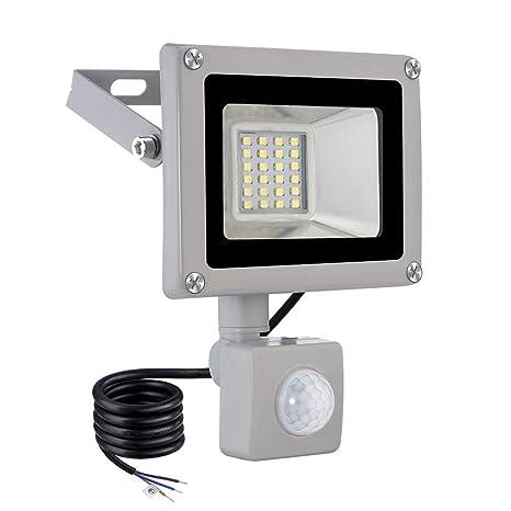 viugreum Foco LED para exteriores (con detector de movimiento, foco LED, 20 W