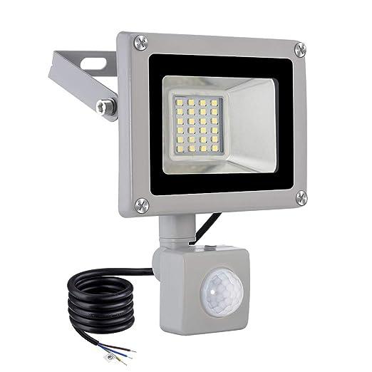 20w Led Foco Proyector,Foco sensor de movimiento ,Led Floodlight para Exterior Iluminación Decoración IP 65 ,6000K Blanco Frío,Lámpara para Jardín, ...