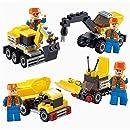 Engineering Construction Building Blocks, Newisland 393PCS Building Set with 8 Unit Vehicles Toys Bricks