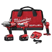 2796-23 Milwaukee M18 FUEL Cordless Impact Wrench Combo Kit with LED & Carrying Bag