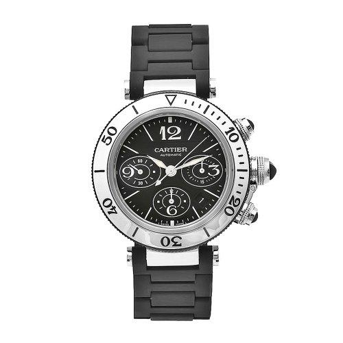 (Cartier Men's W31088U2 Pasha Stainless-Steel Ceramic Automatic Chronograph Watch)
