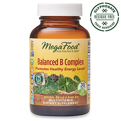 (MegaFood, Balanced B Complex, Promotes Healthy Energy Levels, Multivitamin Dietary Supplement, Gluten Free, Vegan, 30 Tablets (30 Servings) (FFP))
