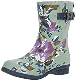 Chooka Women's Waterproof Mid-Height Printed Memory Foam Rain Boot, Alice, 7 M US