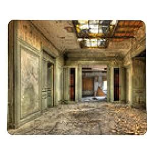 alfombrilla de ratón corredor decaído en una oficina central abandonada de la fábrica - rectangular - 23cm x 19 cm