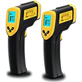 Etekcity Lasergrip 774 Non-contact Digital Laser Infrared Thermometer, Yellow and Black, 2 Pack