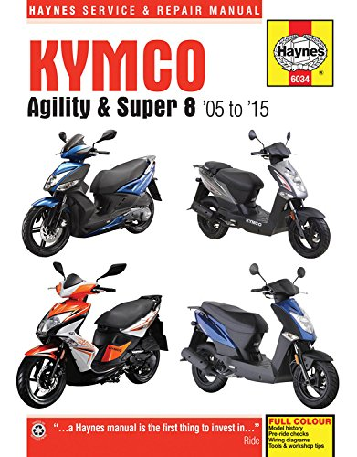Kymco the best amazon price in savemoney kymco agility super 8 scooters 05 15 haynes fandeluxe Image collections