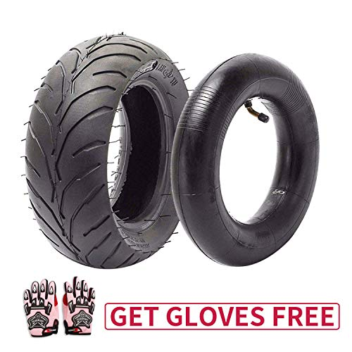 110/50-6.5 Tire and Inner Tube for 49cc Mini Pocket Rocket Bike,Thicker Tire and Tube 110 50 6.5,Free Pink Gloves (110 Pocket Rocket)