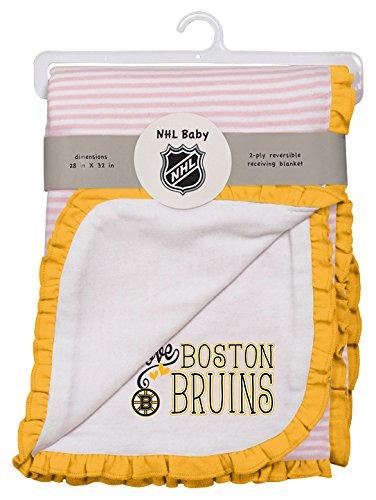 Boston Blanket Bruins (NHL Boston Bruins Layette Newborn Love Blanket, One Size, White)