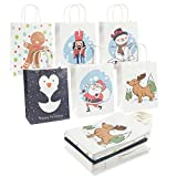 24-Pack Christmas Gift Bags -