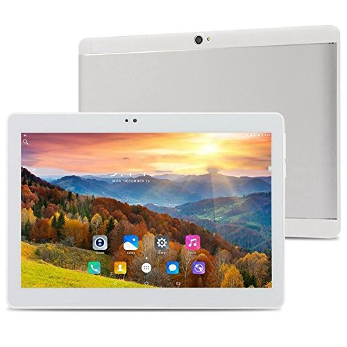 ibowin M130 10.1Inch tablet PC 1280x800 IPS Resolution MTK Quad core CPU Octa core GPU 2G RAM 16G ROM 3G Cellular PC Android 6.0 WIFi Bluetooth AGPS (Silver) by ibowin