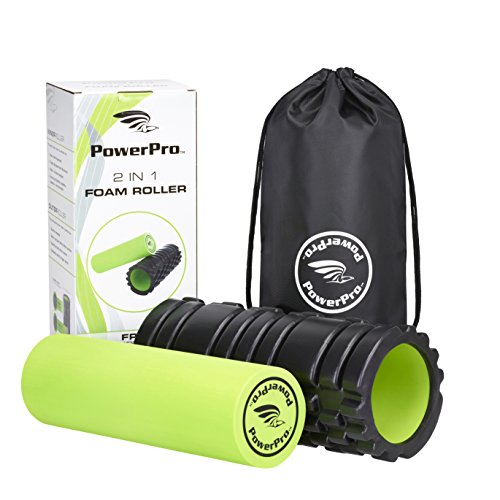 PowerPro 2-in-1 Foam Rollers. Trigger Point & Smooth