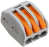 Wago 222-413 LEVER-NUTS 3 Conductor Compact Connectors 500 PK