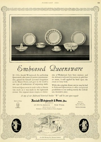 1926 Ad Josiah Wedgwood Sons China Dish Dinner Pattern Decor Kitchen Plates Cup - Original Print Ad