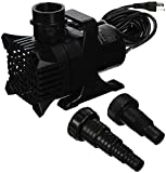 Algreen MaxFlo 9000 to 2500 GPH Pond and Waterfall Pump for Gardening