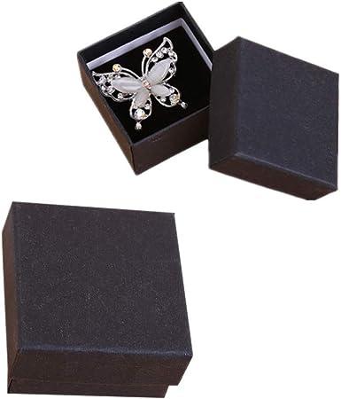 XD E-commerce Caja de Regalo Pulsera de la Caja de Regalo Caja de Regalo Decorativa Cuadrado Caja de joyería Pequeña Caja de Regalo Caja de Regalo de cartón Black,24pcs: Amazon.es: Hogar