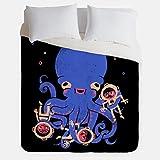 Aquatic Affection Octopus Duvet Cover / Nautical Scuba Diver Bedroom Decor / Made in USA / Great Bedroom Artwork