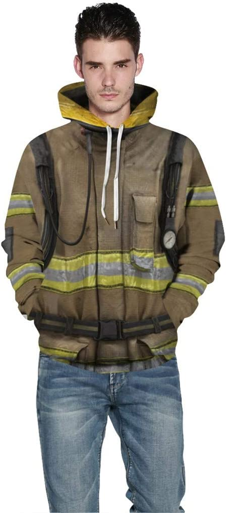 Sallyohno Cosplay Sweatshirt Ugly Kapuzenpulli Drawstring Herren Damen Oversize Sweatshirt mit Tasche Hoodies Kapuzenpullover Winter Pullover Slim Fit