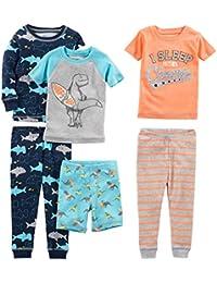 Boys' 6-Piece Snug Fit Cotton Pajama Set