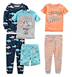 Simple Joys by Carter's Baby Boys' 6-Piece Snug Fit Cotton Pajama Set, Shark/Champ/Surf, 24 Months
