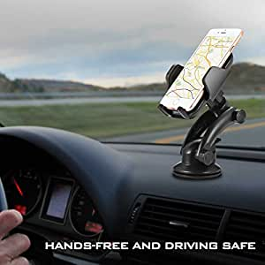 Tvird Phone Holder for Car Universal Car Windshield Dashboard Phone Mount Holder for iPhone 8/7/7P/6s/6P/5S, Galaxy S8/S7/S6/S5, LG,HUAWEI,HTC and most cellphones