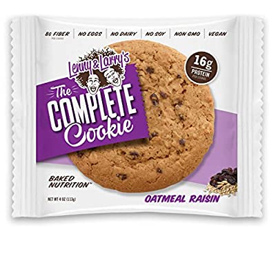 Lenny & Larry's The Complete Cookie, Oatmeal Raisin, 4-Ounce Cookies (Pack of 12) by Lenny & Larry's