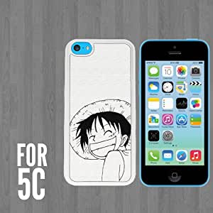 Luffy Piece One Custom made Case/Cover/skin FOR Apple iPhone 5c - White - Rubber Case + FREE SCREEN PROTECTOR ( Ship From CA)