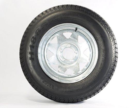 Trailer Tire + Rim ST205/75D14 2057514 F78-14 14″ 5 Lug Wheel Spoke Galvanized