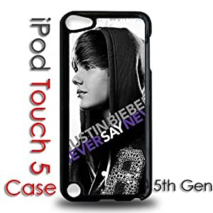 IPod 5 Touch Black Plastic Case - Justin Bieber Never Say Never