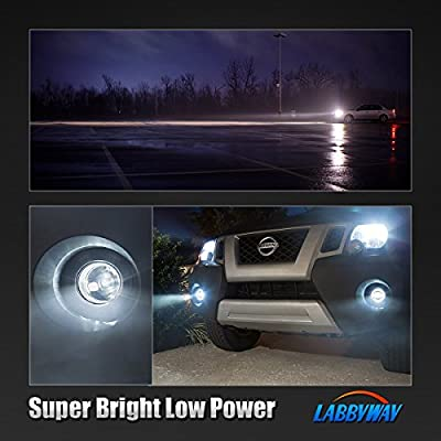 LABBYWAY 2 X 1000 Lumens 3014 78-EX Chipsets Super Bright 6000K LED Bulbs 881 894 896 886 LED Bulbs Used For DRL or Fog Lights,Xenon White: Automotive