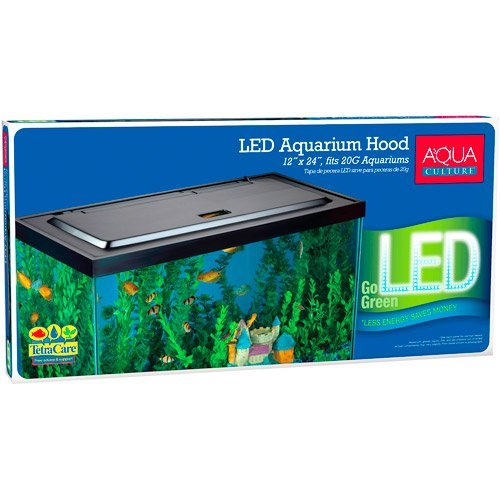 Aqua Culture LED Aquarium Hood for 20/55 Gallon Aquariums - Tetra by Tetra