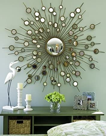 Large Contemporary GOLD Mirror Modern Convex