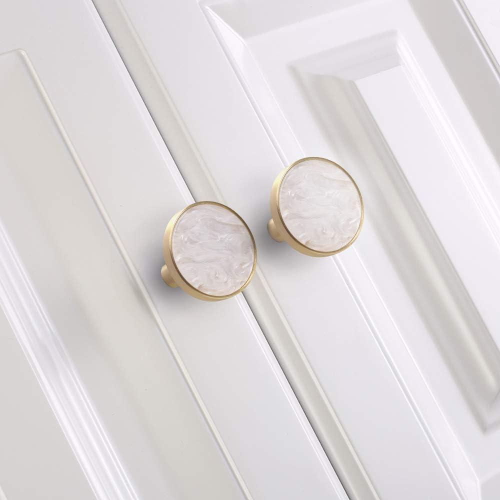 para armario de cocina armario moderno dise/ño de concha dorada armario tirador de ropa armario Pomos redondos de lat/ón cepillado armario simple 27 mm