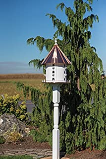 product image for 15 Hole Bird House Copper 3 Foot Tall 35 x 21 Martin House Amish Made in USA