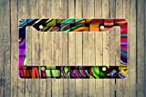 Abstract Waves Flat License Plate Frame