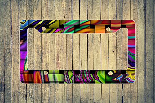 Abstract Waves Flat License Plate Frame by Foothills Signs