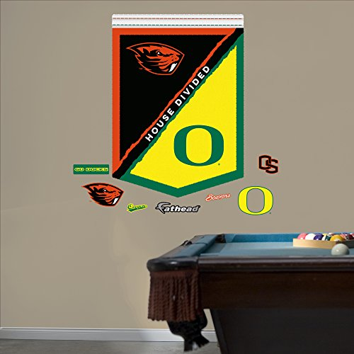 NCAA Oregon State Beavers House Divided Banner Fathead Real Big Decals, 34