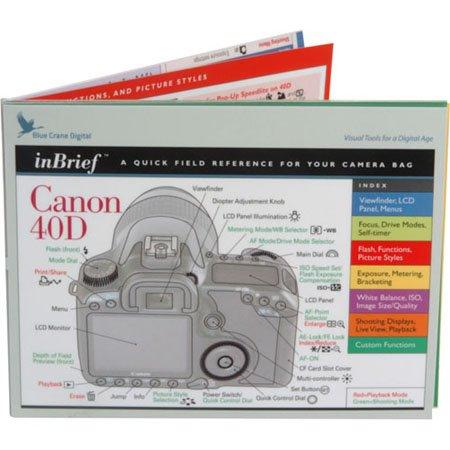 ブルーCrane inBriefクイックフィールド参照カードfor the Canon 40dデジタルカメラ。   B00153NKMQ