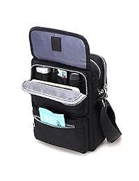 Crossbody Bag for Women, JOSEKO Multi-Pocketed Nylon Shoulder Bag Purse Travel Passport Bag Messenger Bag